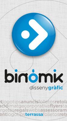 Binòmik Disseny Gràfic logo
